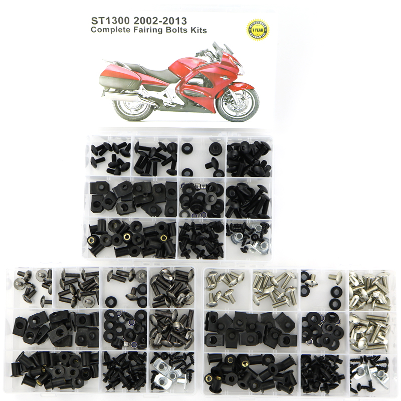 For HONDA ST1300 2002-2013 Motorcycle Complete Cowling Full Fairing Bolts Kit Covering Screws Nuts Fairing Clips