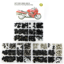 все цены на For HONDA ST1300 2002-2013 Motorcycle Complete Cowling Full Fairing Bolts Kit Covering Screws Nuts Fairing Clips OEM Steel