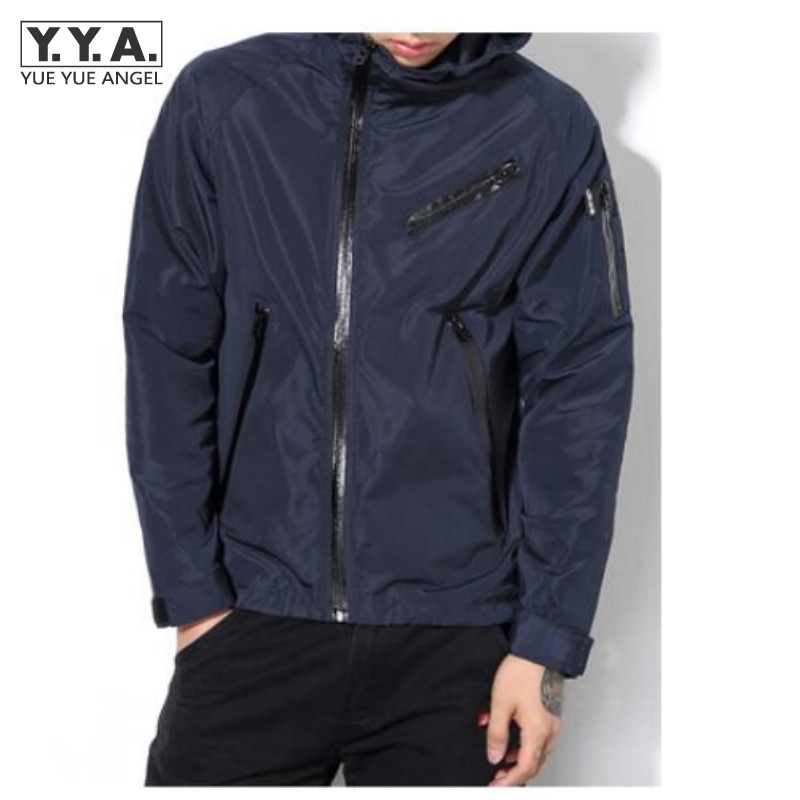 2017 Tide Brand Mens Waterproof Coats Hooded Thin Casual Jacket For Man Zipper Fly Windbreaker Plus Size M-5XL Free Shipping