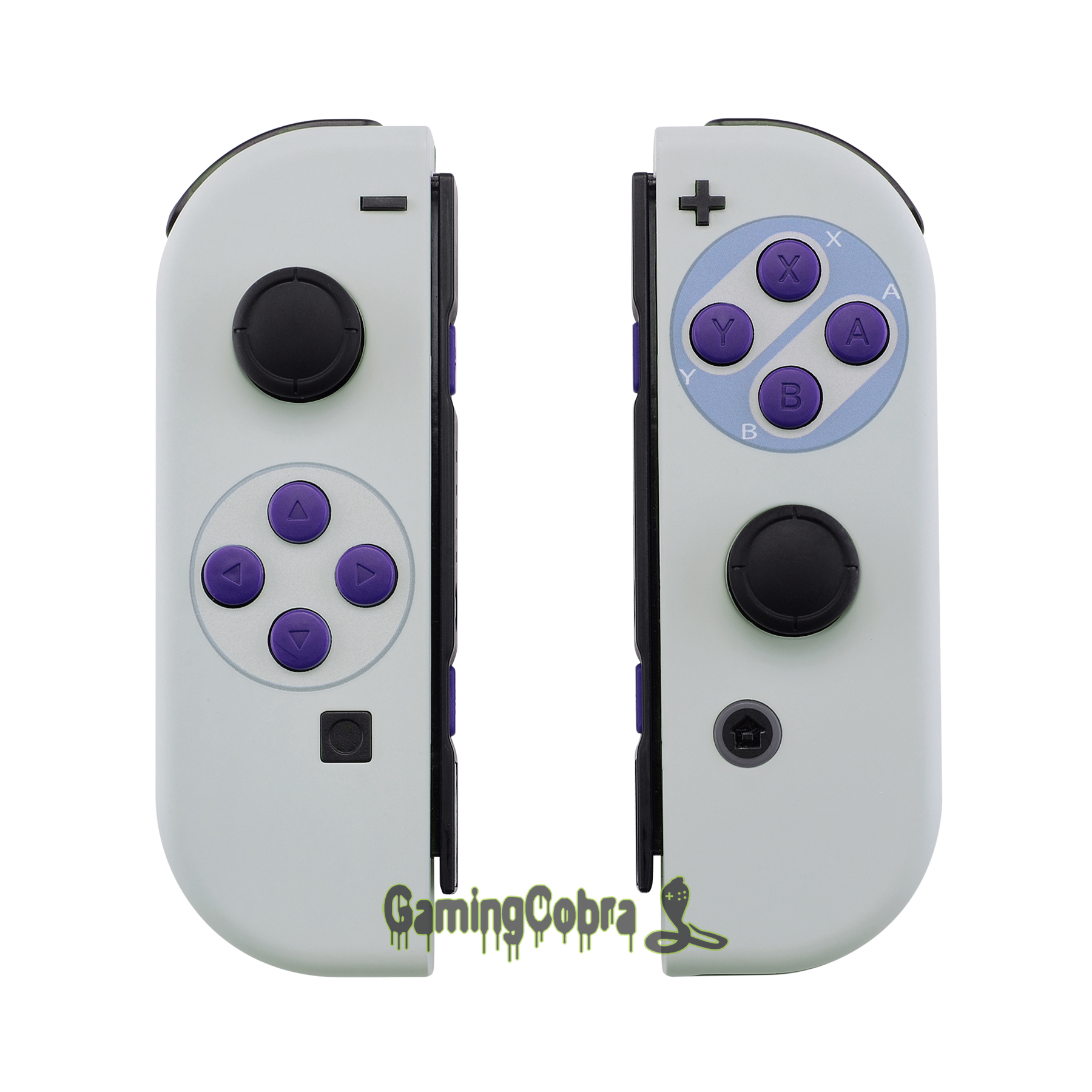 Soft Touch Classics SNES Style Housing Shell Case With Full Set Buttons DIY Replacement Housing For Nintendo Switch Joy-Con