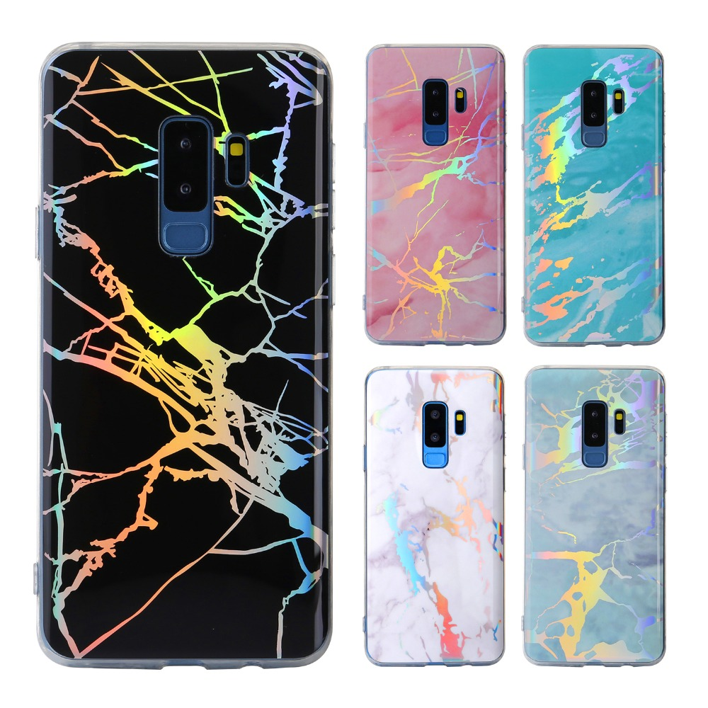reputable site da5a4 ee9e1 US $3.26 10% OFF JeKacci Fashion Laser Marble Phone Case for Samsung Galaxy  S7 S8 S9 Plus edge Note8 Soft TPU Back Cover For Samsung S9 plus Case-in ...