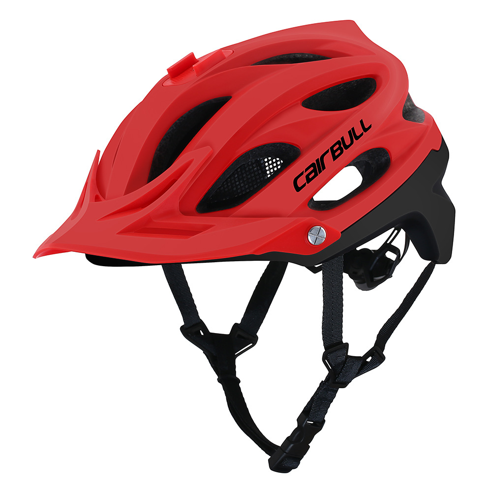 Bicycle Helmet 290g Cairbull Allset Camera Installable Bicycle Helmet With Visor Mtb Off-road Cycling Safety Cap Mountain Bike Helmet 55-61cm To Have Both The Quality Of Tenacity And Hardness