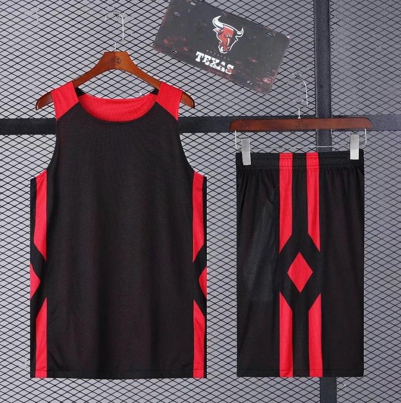 0f651cc8d0ed Blank basketball jersey   shorts Mesh Breathable basketball uniform men  Running sportswear basketball training suit Customized-in Basketball Jerseys  from ...
