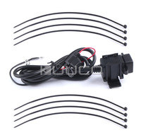 Waterproof Dual USB Charger DC 12V 24V To 5V Car Motorcycle USB Charger For For Mobile