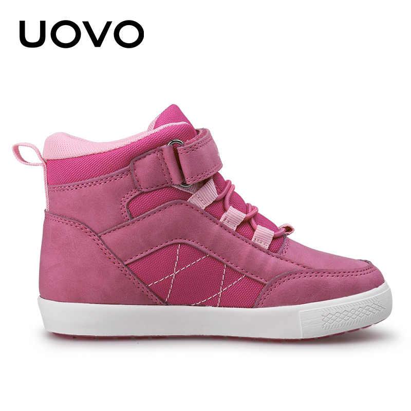 UOVO/Брендовая обувь для девочек; Новинка 2019 года; сезон осень-зима; детская прогулочная обувь; модная детская обувь; теплые кроссовки для девочек; размеры 28 #-37 #