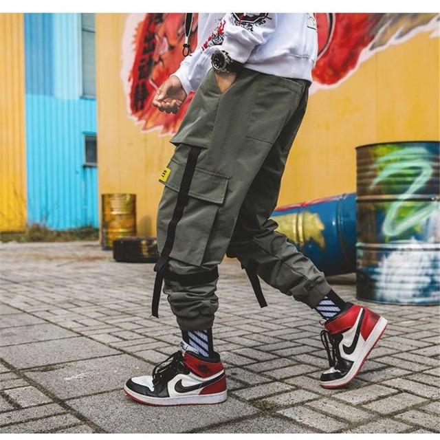 Man Patchwork Japanese Streetwear Joggers Pants Men Designer Harem Pants Casual Harajuku Sweatpants