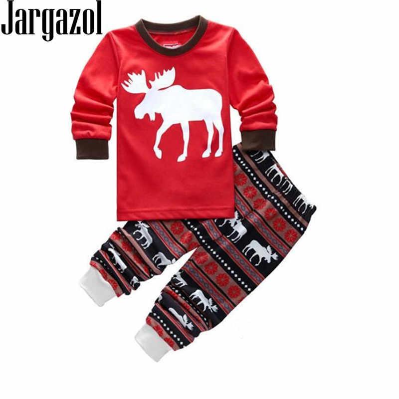 a49175d38 Jargazol Kids Pajama Sets Casual Christmas Pajamas with Deer Pig Tiger  Navvy Cartoon Printed Carters Baby