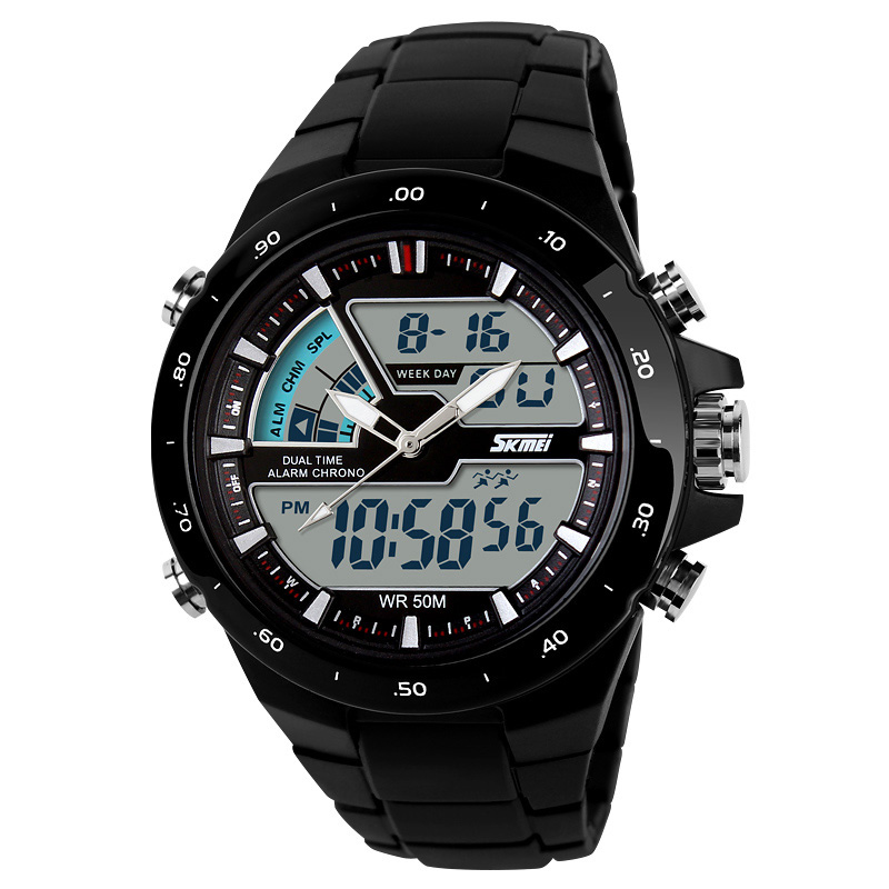 SKMEI 1016 Sports Watches Men Fashion Casual Digital Quartz Wristwatches Alarm 30M Waterproof Military Chrono Relogio Masculino Malaysia