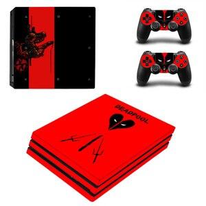 Image 3 - ديدبول جلد فينيل ملصق لسوني PS4 برو وحدة التحكم و 2 وحدات تحكم غطاء لصائق لعبة الملحقات