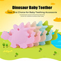 1PC BPA Free Safe and Natual Silicone Dinosaur Teether Chewable Pendant Nursing Necklace Baby Dummy Teether