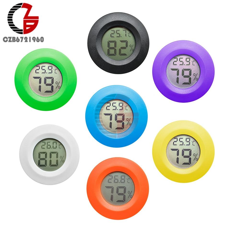 New Round Zero Hygrometer Digital LCD Display Humidity Temperature Meter