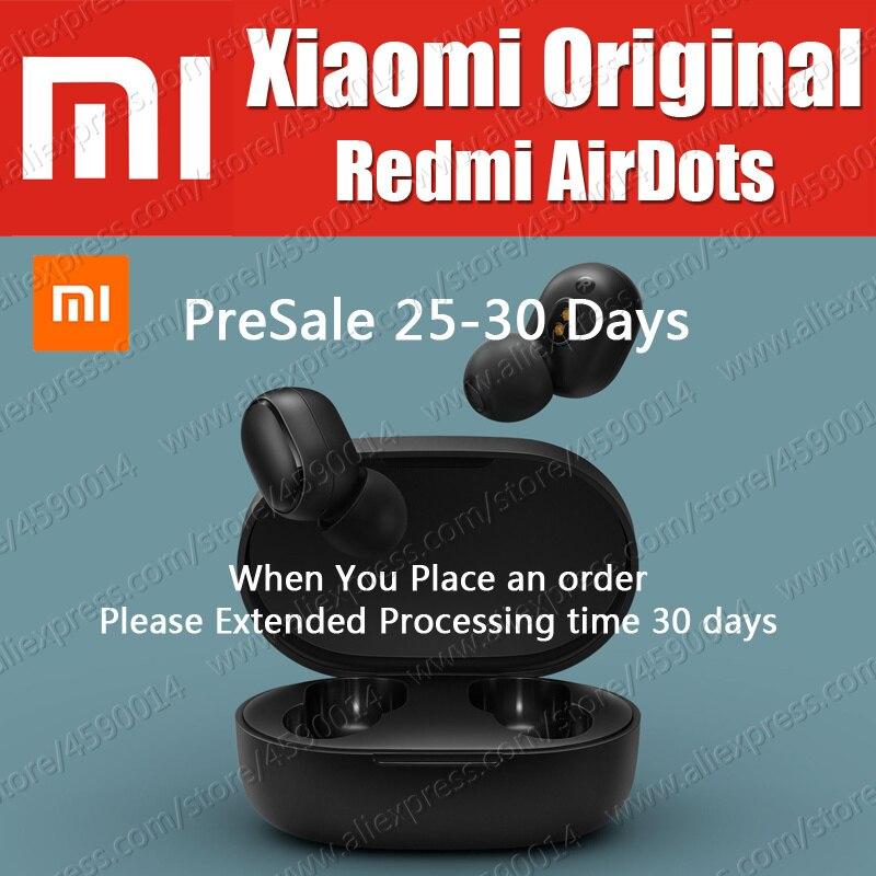 TWSEJ04LS 4.1g Xiaomi Originale Redmi AirDots Vrai bluetooth sans fil 5.0 Écouteurs DSP Actif casque anti-bruit