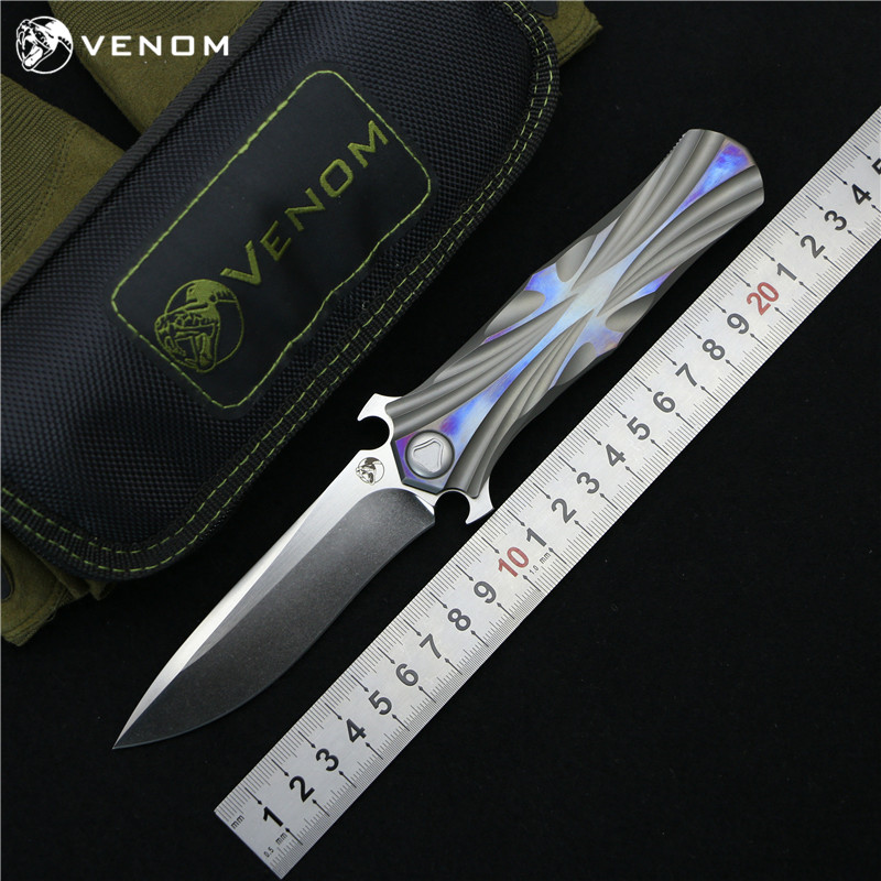 Яд Кевин Джон T серии M390 стали Титан Флиппер складной нож Керамический шарикоподшипник Отдых на природе Охота Карманные Ножи EDC инструменты