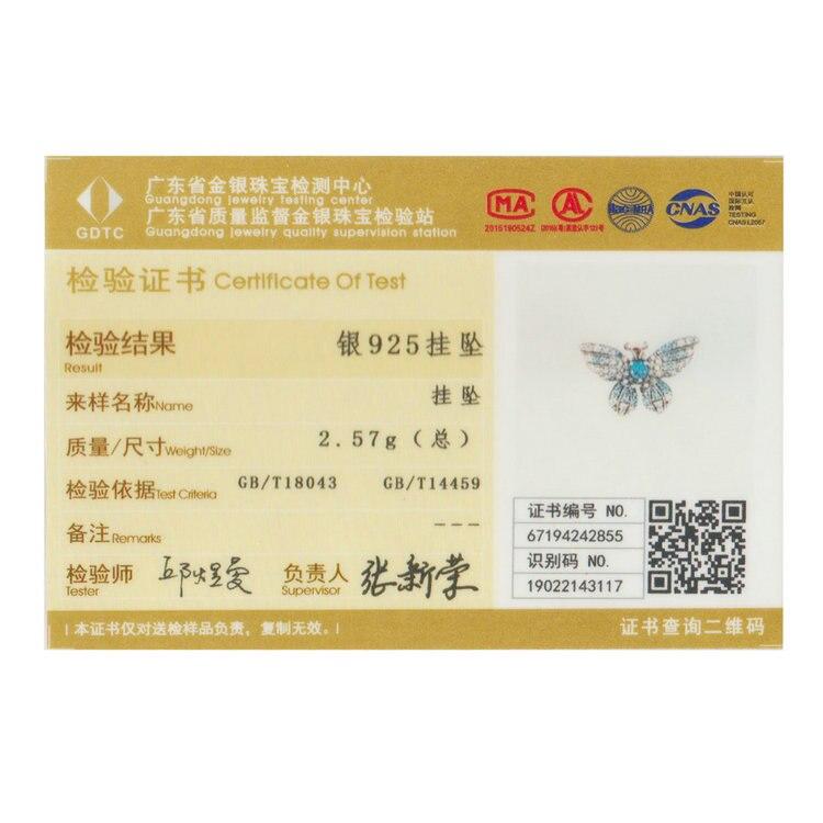HTB1t73XJzDpK1RjSZFrq6y78VXa2 BAMOER 100% 925 Sterling Silver Crystal Blue Zircon Butterfly Beads fit Charm Bracelets Women Necklaces Silver Jewelry BSC061
