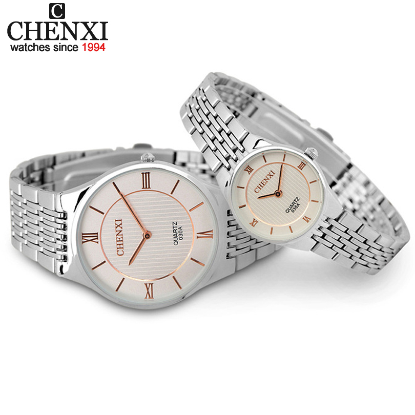 Mens casual Fashion watches women two men and ladies watch fine needle ultra thin quartz watches Rose gold hands clock CX-030A