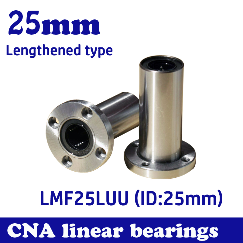 Free shipping LMF25LUU long type 25mm flange linear bearing CNC Linear Bush free shipping lmk12luu long type 12mm flange linear bearing cnc linear bush