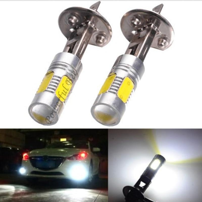 2 X H1 15W Cold White Yellow Amber Ice Blue LED DRL Fog Lights Lamp Bulb For DC12V Cars