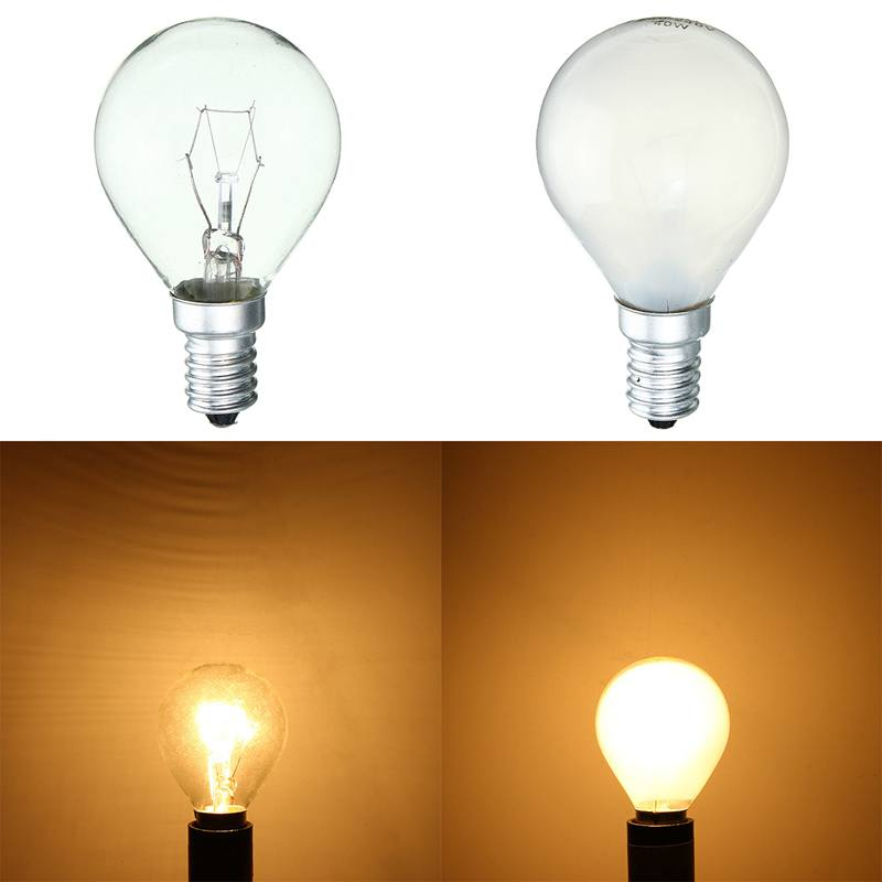 Vintage Edison Bulb E14 25W 40W Retro Antique Incandescent Filament Globe Bulb For Pendant Lamp Warm White Decor Lighting AC220V