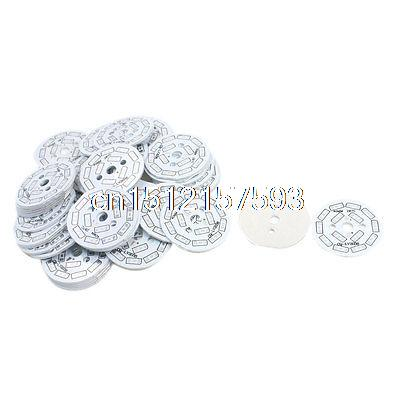 50Pcs 40mm Circle Aluminum PCB Circuit Board for 14 x 1/2W 5730 SMD LED 10pcs led aluminum plate 40mm for 5w 5730 smd heat sink