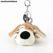 1PCS Kneeling Dog Plush Toys Mini Cute Dogs Stuffed Toy Key Chain Bag Small Pendant For Kids 2019 New Hot Sale 12CM HANDANWEIRAN