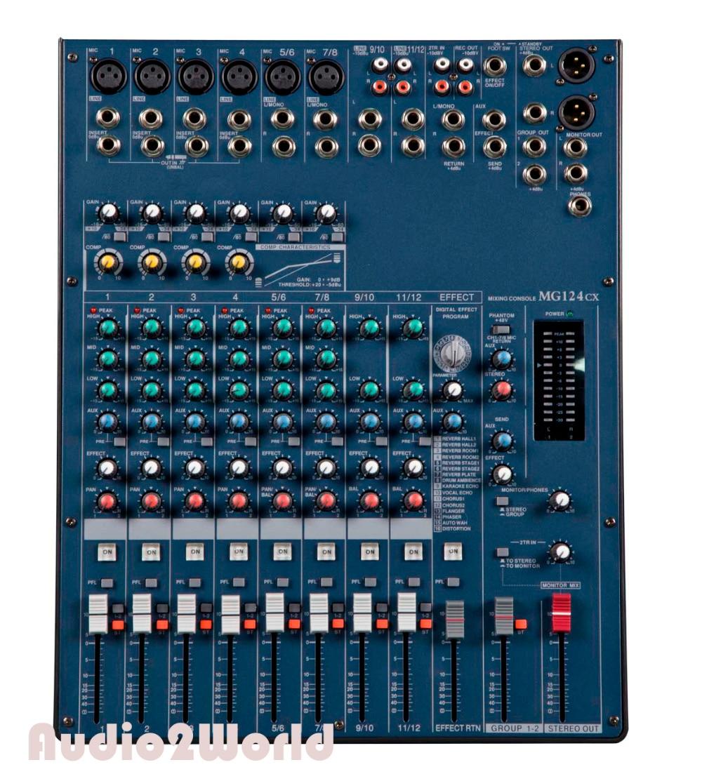 Professional audio mixer 12 channels mixing console mg124 mezcladora de dj in karaoke player - Professional mixing console ...