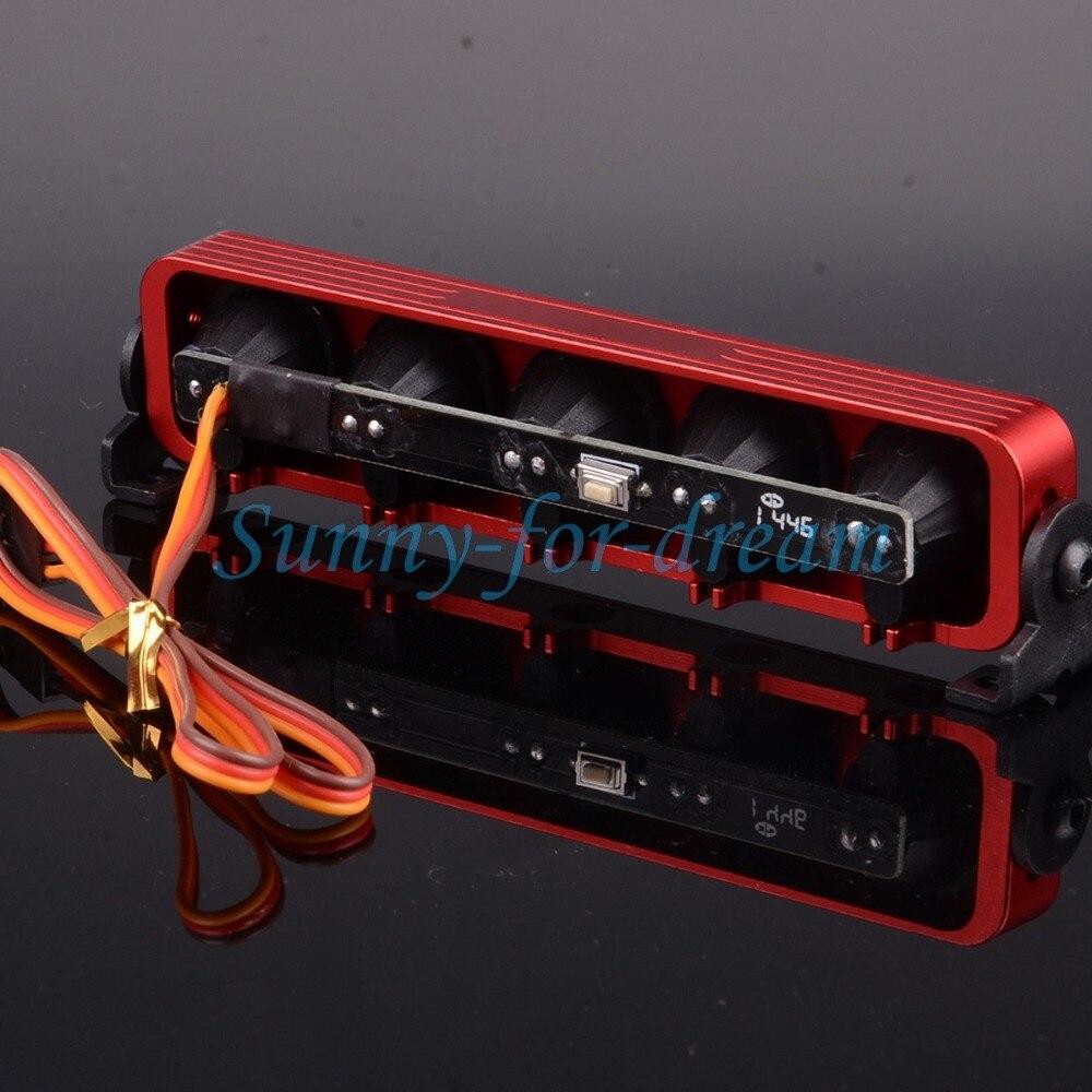 JAUNE RC 1/10 1/8 Multi Fonction Ultra LED Lumière Bar 5 Modes D90 SXC10 4WD 509Y