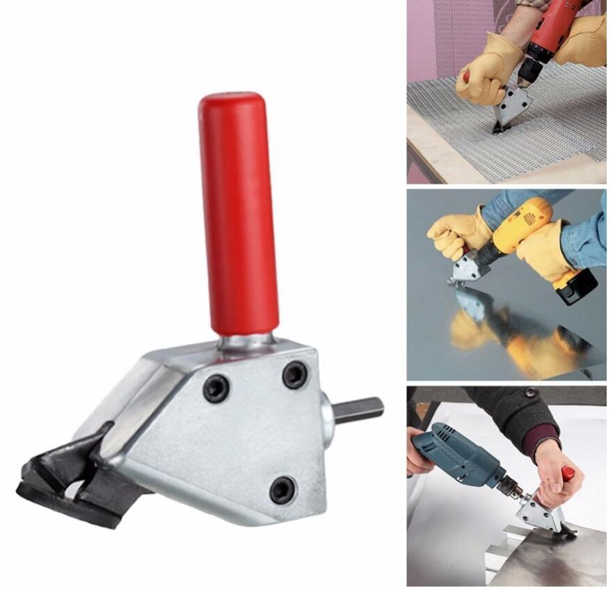 Milda New Nibble Metal Cutting Sheet Nibbler Saw Cutter Tool Drill Attachment Cutting Tool Metal Cut