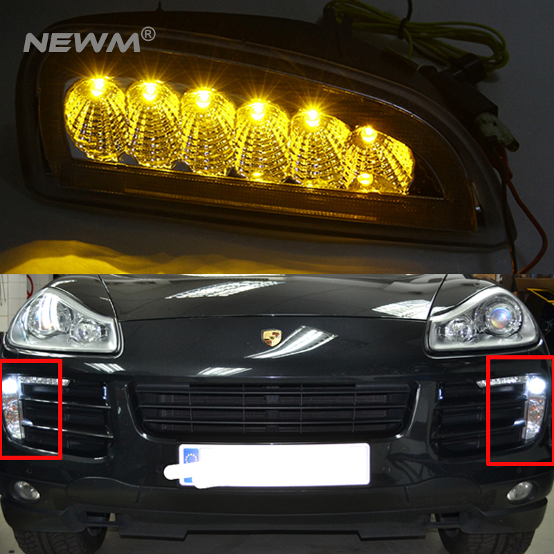Car Styling LED Daytime Running Lights for Porsche Cayenne LED DRL 2006 2007 2008 2009 2010 Automobiles DRL for vw passat b6 2006 2007 2008 2009 2010 2011 pair or left or right led lights drl daytime running lights