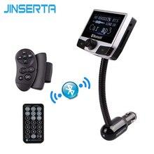 Jinserta Bluetooth-гарнитуры для авто AUX аудио MP3-плеер fm-передатчик USB SD Слот громкой связи ЖК-дисплей Дисплей Идентификатор вызывающего абонента руль пульт дистанционного