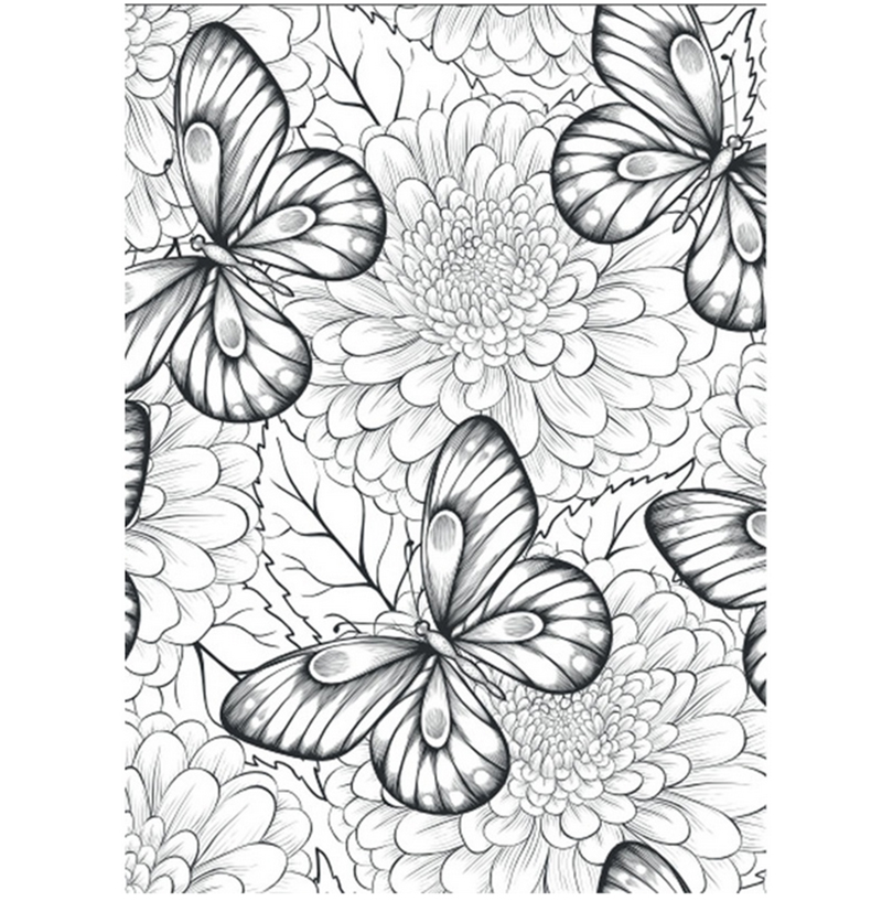 Flores Monogatari libros para colorear para adultos niños aliviar el ...