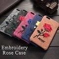 Casos de moda para iphone 7 plus bordado caso para iphone 6 s & além de tampa traseira para o iphone 7 subiu caso de arte especial chinês presente
