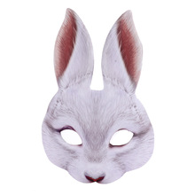 April Fools Day Accessories Cospaly Rabbit Masks Realistic Masker Mascaras Animales Prop Halloween Mask Unisex Carnival