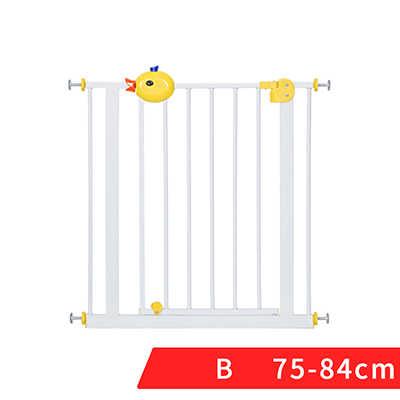 66 ~ 84 ซม.Babysafe iron Gate เด็กบันไดรั้วสัตว์เลี้ยงสุนัข Grid ราว Isolating garden gate สูง 100 ซม.เพิ่มขยายรั้ว