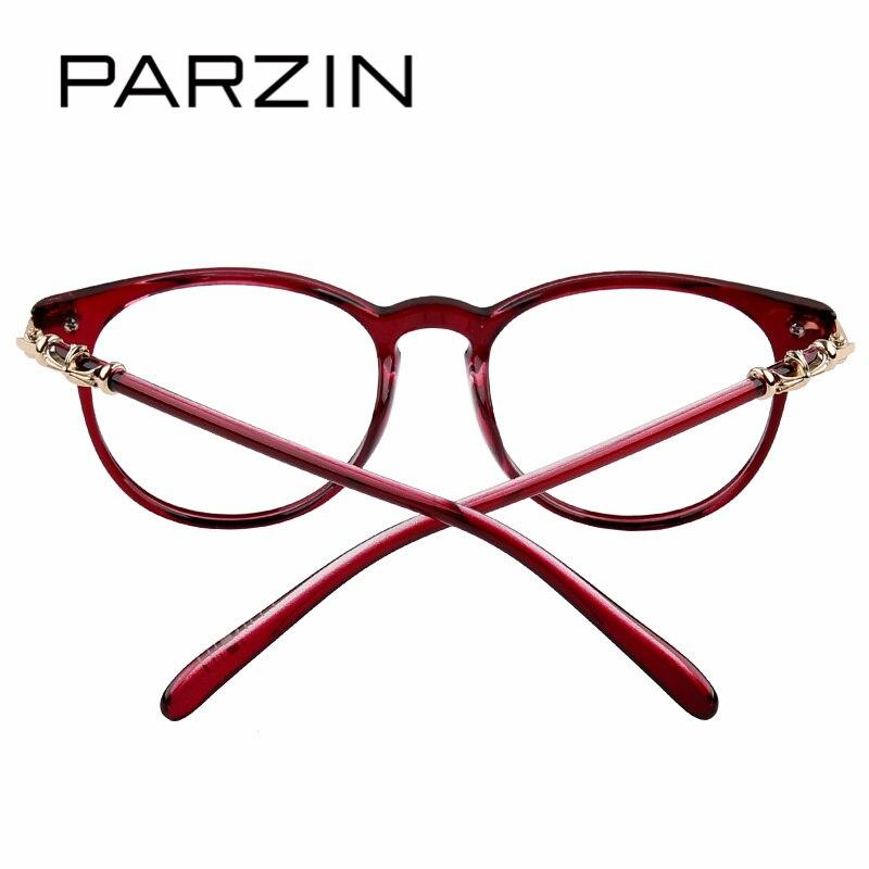 PARZIN Gran Moda Monturas De Gafas Con Lentes Transparentes de ...