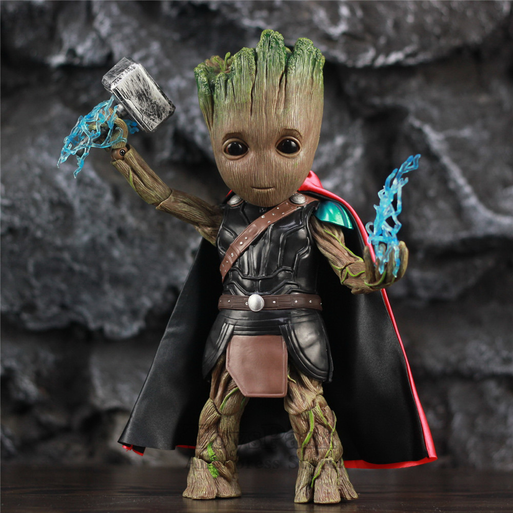 Life Size 1 1 Marvel Guardians of The Galaxy Avengers Cute Baby Tree Man Mix Thor