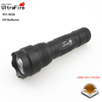 VUAN U-F WF-502B CREE XP-L V5 1800lm Cool White Light 3-Mode High>Middle>Low OP LED Flashlight (1 x 18650)