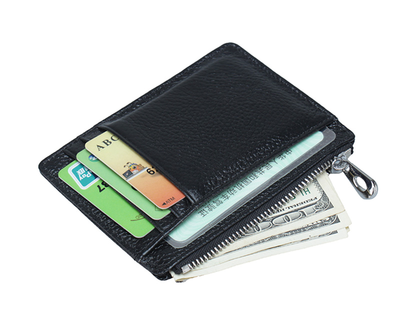 High Quality Vintage Cow Leather Credit Card Holder Small Wallet Purse Brand Cards Wallets Used to put CARDS (cuatom available
