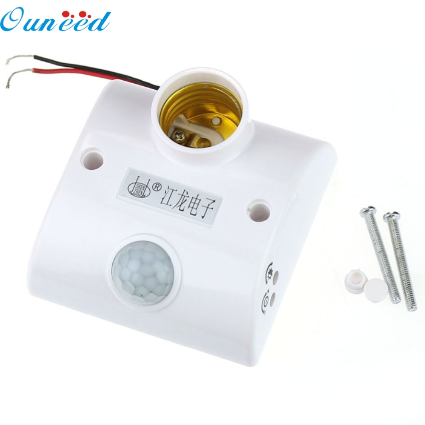 Ouneed Creative Infrared Motion PIR Sensor Automatic LED Light Lamp E27 Holder Switch Happy Gifts High Quality sensor automatic light lamp ir infrared motion control switch energy saving y103