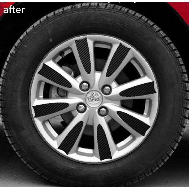 Wheel Rim Sticker Wheel Hub 3D Carbon Fiber VInyl Decorative Sticker for BYD L3 2010 2011 2012 2013 2014 2015