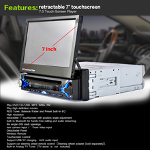 Новый 7 «2Din Car Bluetooth MP5 Плеер HD Сенсорный Экран Bluetooth MP5 Игрок Автомобиля MP5 Player Аудио Видео с Сокращением Экран