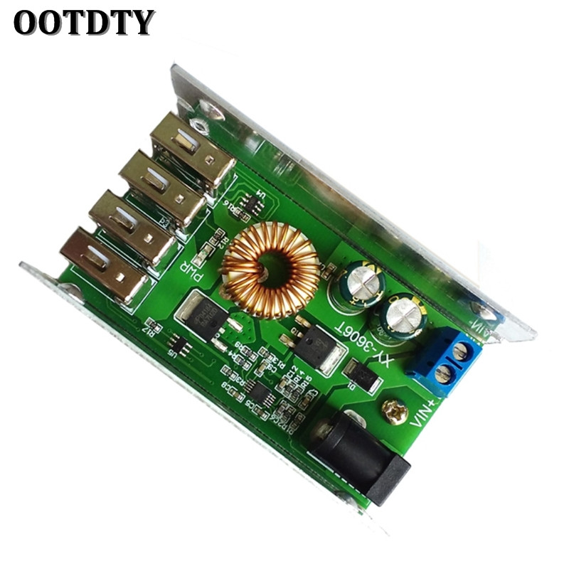 OOTDTY DC-DC Power Supply Module 24V/12V to 5V 5A Converter Replace LM2596S