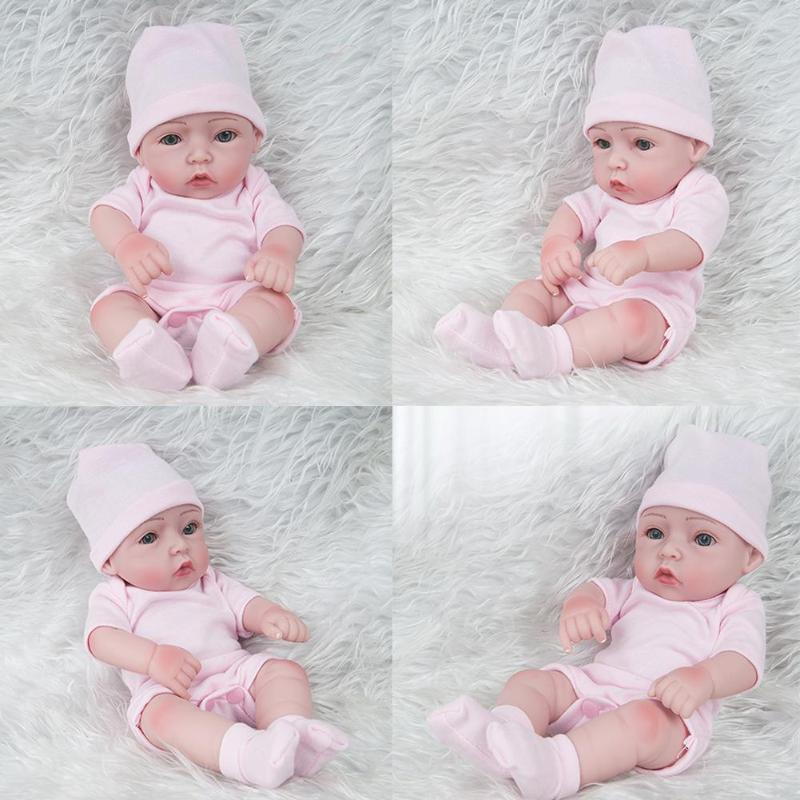 28CM Cute Bebe reborn Catton Baby Simulation Reborn Doll Toy Soft Silicone Newborn Baby Birthday Soft Gift Doll au plug ac 220v 10a electric 3 wires leakage protection cable for water heater