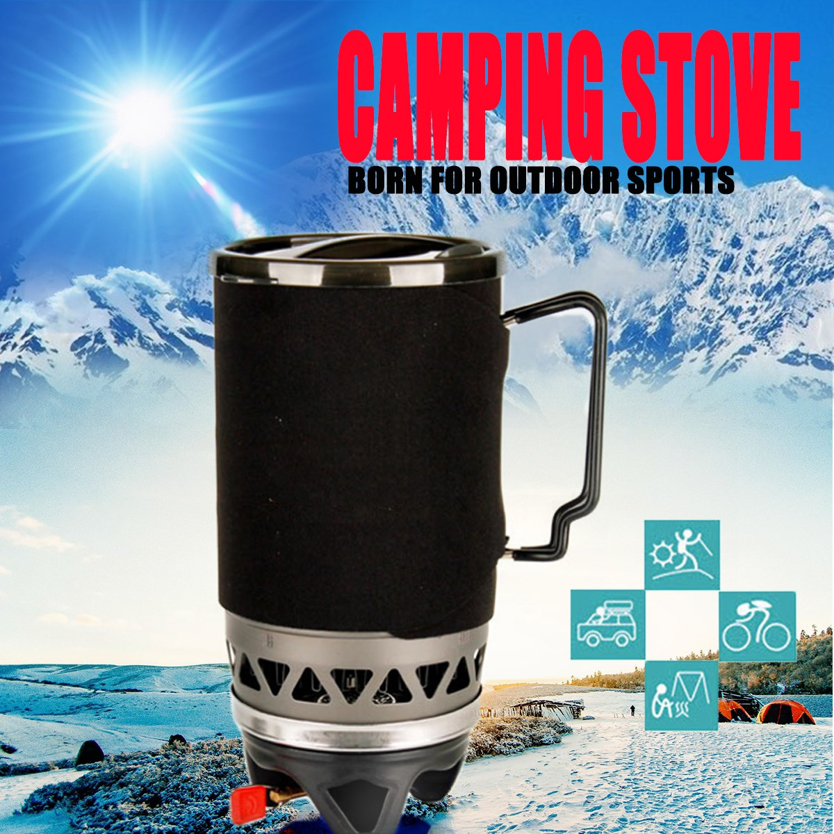 Sports & Entertainment Camping & Hiking Boruit Light Solid Fuel Alcohol Stove Portable Camping Barbecue Oven Mini Picnic Stove For Camping Barbecue Street Price
