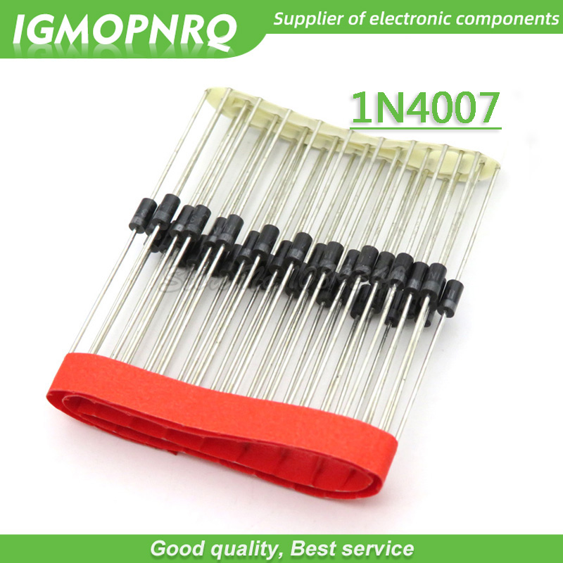 100pcs/lot 1N4007 4007 1A 1000V DO-41 Rectifier Diode New Original