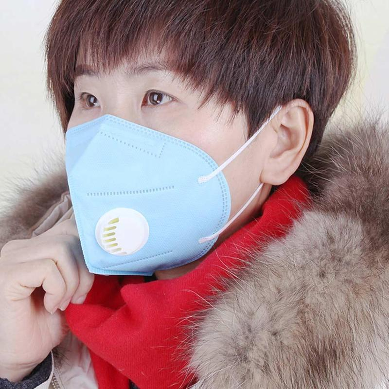 Pm2.5 Dust Masks Air Pollution Non-woven Anti-fog Filter Daily Use Vertical Folding Safe Masks Antivirus Dust Anti Fog Mask image