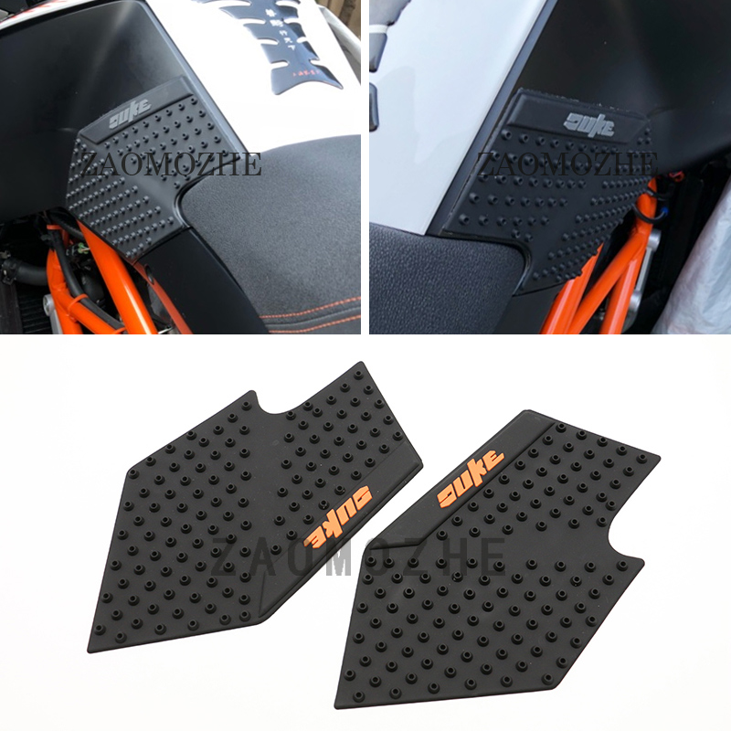 Tank Traction Pads Side Gas Knee Grip Decal Protector Fit For KTM DUKE 125 DUKE 200 DUKE 390 Motorcycle Accessories Orange