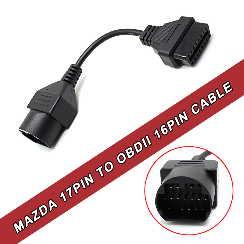 Prix pour 17 Broches à 16 Broches Câble OBDII OBD2 Câble De Diagnostic Adaptateur Connecteur Pour Mazd un