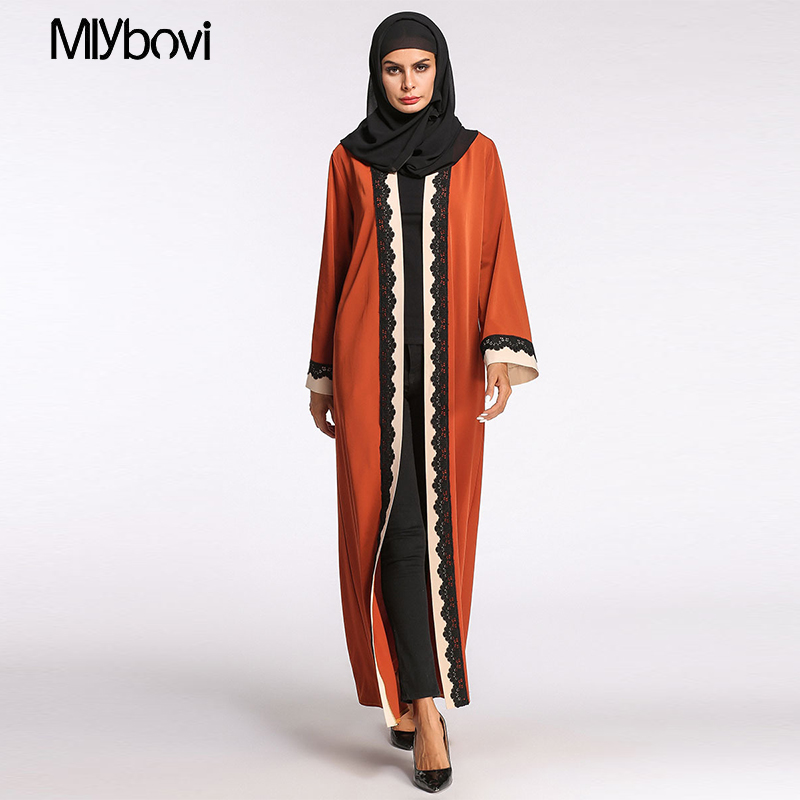 Orange 2XL Abaya Muslim Girls Vogue Lace Gown Lengthy Print Girls Clothes Girls Arab Girls Malaysia Abayas Muslim Robes 2018 Attire, Low-cost Attire, Orange 2XL Abaya Muslim Girls Vogue...