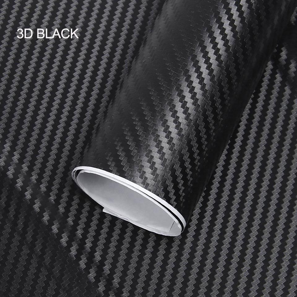 "12/""X60/"" 3D SilverCarbon Fiber Vinyl Car Wrap Sheet Roll Film Sticker Decal Sales"