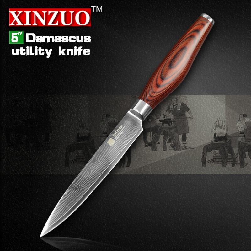 5 Utility font b knife b font Japanese Damascus kitchen font b knife b font paring
